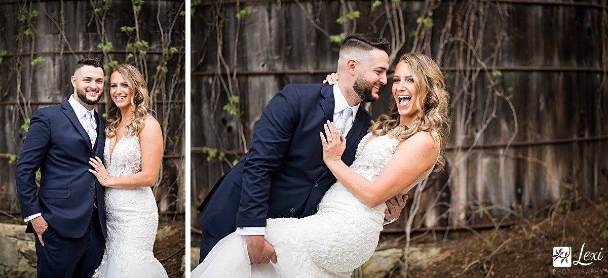 bedford-village-inn-wedding-groom-dipping-bride.jpg