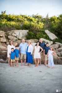 family portrait on wingaersheek beach featuring 3 generations